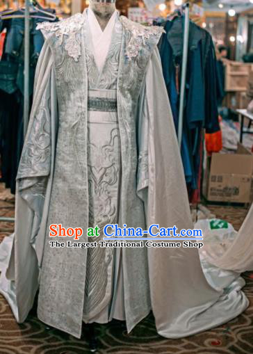 Traditional Chinese Drama Swordsman Hanfu Clothing Ancient Crown Prince Replica Costume for Men