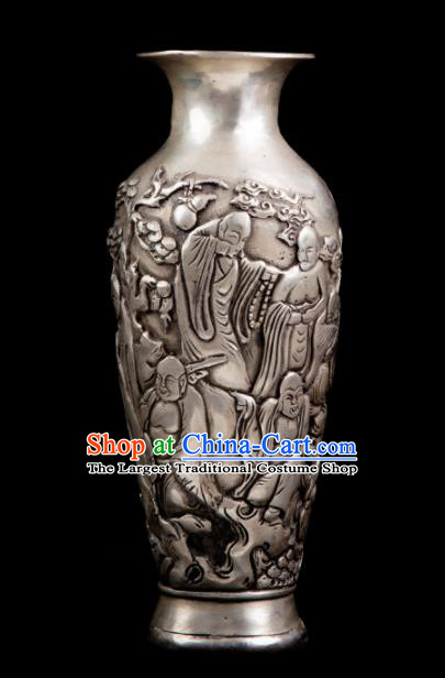 Chinese Traditional Feng Shui Items Taoism Bagua Cupronickel Vase Decoration