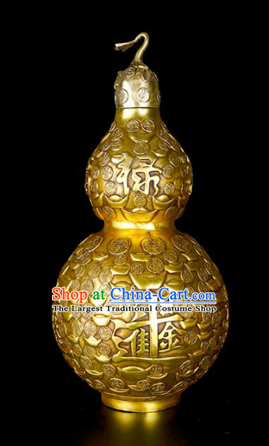 Chinese Traditional Feng Shui Items Taoism Bagua Brass Wealth Cucurbit Decoration