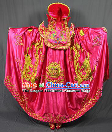 Chinese Traditional Sichuan Opera Rosy Costume Face Changing Clothing Complete Set for Women