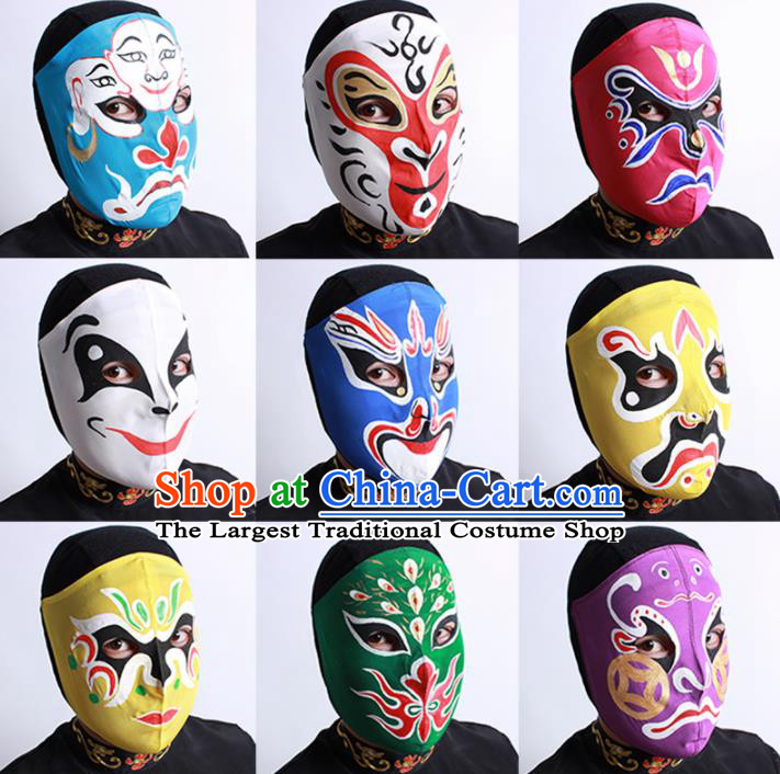 Chinese Traditional Sichuan Opera Face Changing Masks Handmade Painting Facial Makeup