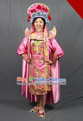 Chinese Traditional Sichuan Opera Pink Costume Face Changing Clothing Complete Set for Women