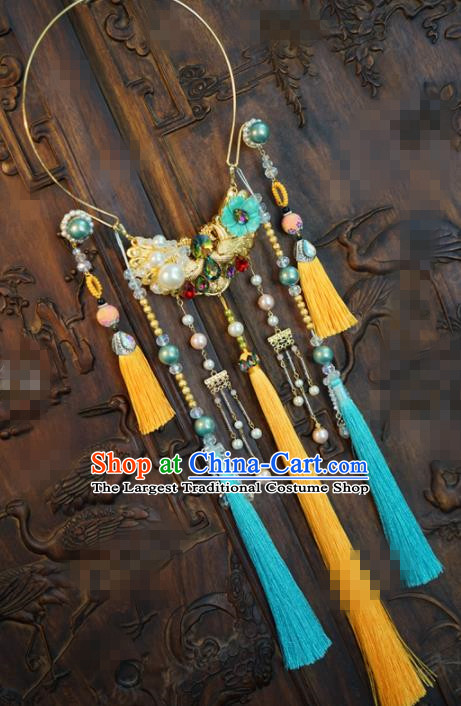 Chinese National Jewelry Accessories Traditional Hanfu Tassel Necklace for Women