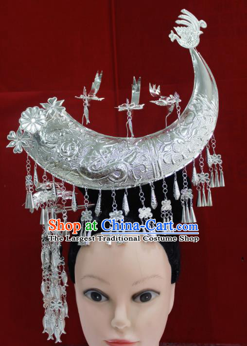 Traditional Chinese Miao Nationality Sliver Hair Accessories