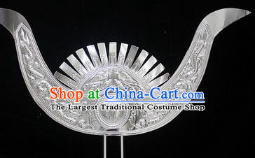 Traditional Chinese Miao Nationality Hair Accessories Hmong Female Carving Sliver Hairpins for Women