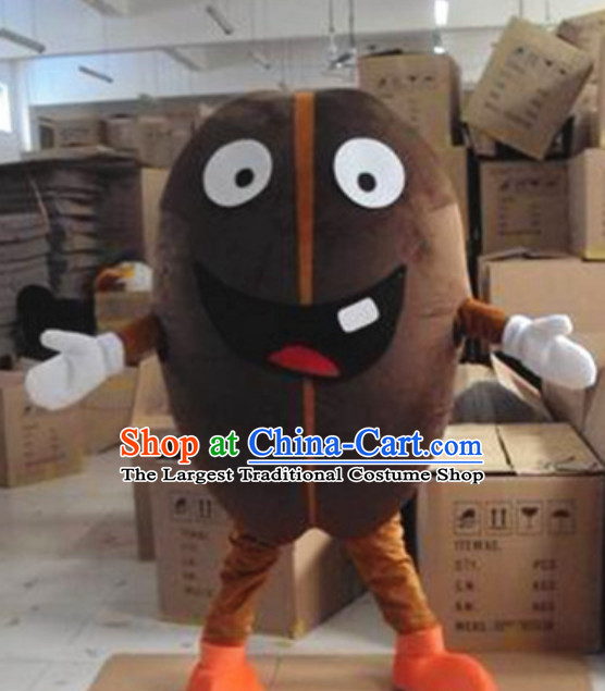 Custom Made Mascot Walking Coffee Beans