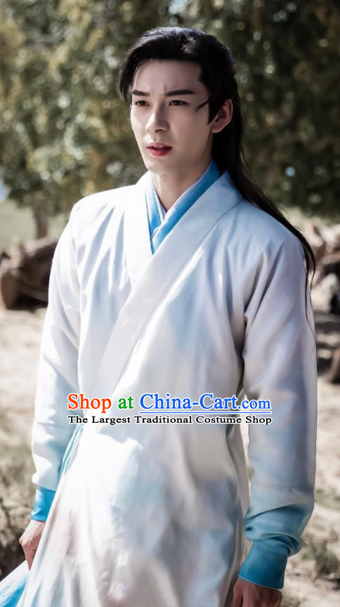 Traditional Chinese Ancient Drama Swordsman Replica Costume Tang Dynasty Nobility Childe Hanfu Clothing for Men