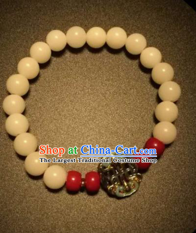 Chinese Traditional Linden Beads Bracelet Handmade Coral Bangles for Women