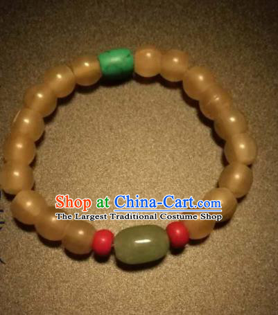 Chinese Traditional Beads Bracelet Handmade Hanfu Bangles for Women