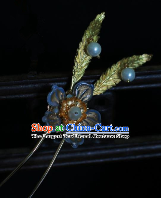 Traditional Chinese Hanfu Flower Hair Clip Hair Accessories Ancient Imperial Consort Hairpins for Women