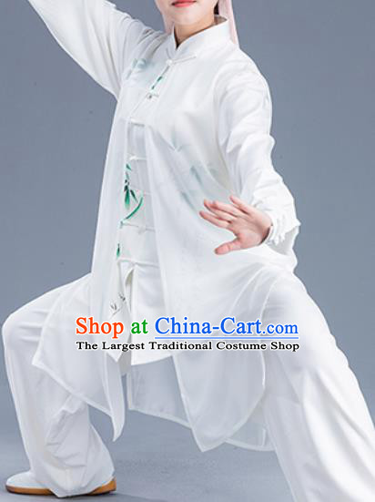 Asian Chinese Traditional Martial Arts Costume Tai Ji Kung Fu Training Uniform for Women