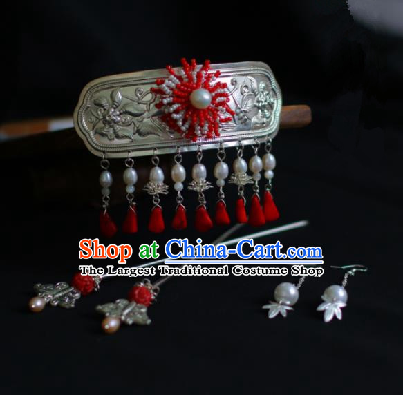 Traditional Chinese Hanfu Palace Hair Crown Hair Accessories Ancient Imperial Consort Hairpins for Women
