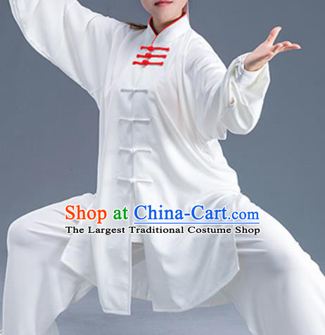 Asian Chinese Traditional Martial Arts Kung Fu Costume Tai Ji Training Group Competition Uniform for Women