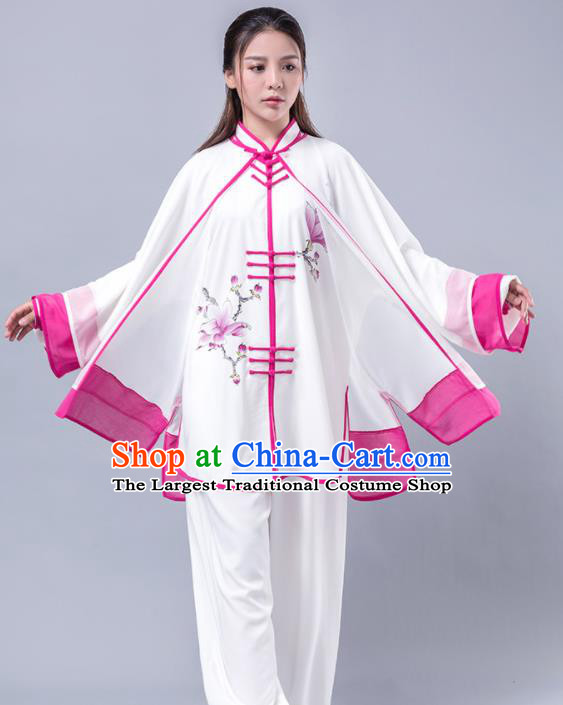 Asian Chinese Martial Arts Traditional Kung Fu Costume Tai Ji Training Group Competition Uniform for Women