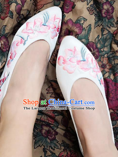 Chinese Ancient Princess Shoes Traditional Cloth Shoes Hanfu Shoes Embroidered Shoes for Women