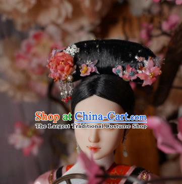 Chinese Ancient Court Maid Headwear Traditional Qing Dynasty Palace Manchu Hair Accessories for Women