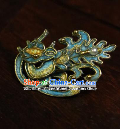 Chinese Ancient Cloisonne Hairpins Traditional Qing Dynasty Palace Manchu Imperial Consort Hair Accessories for Women