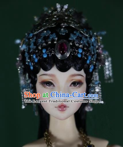 Chinese Ancient Palace Hairpins Phoenix Coronet Headwear Traditional Beijing Opera Hair Accessories for Women