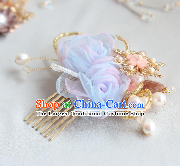 Chinese Ancient Princess Hair Comb Hairpins Traditional Hanfu Hair Accessories for Women