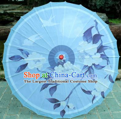 Handmade Chinese Traditional Printing Flowers Birds Oiled Paper Umbrellas Ancient Princess Umbrella