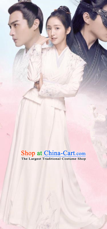 Chinese Ancient Drama Princess Hanfu Dress Traditional Northern and Southern Dynasties Nobility Lady Historical Costume for Women