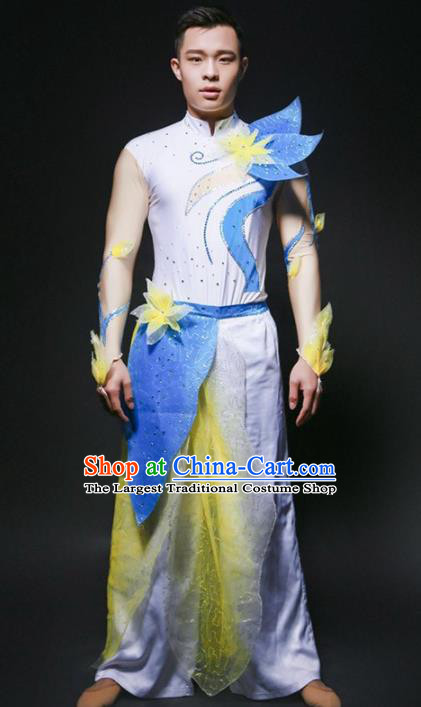 Chinese Folk Dance Costume Traditional Drum Dance Yangko Stage Performance Clothing for Men