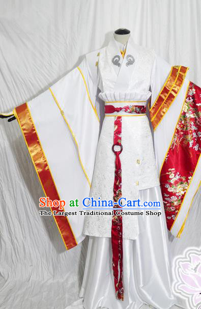 Traditional Chinese Han Dynasty Queen Hanfu Dress Ancient Empress Embroidered Costume for Women