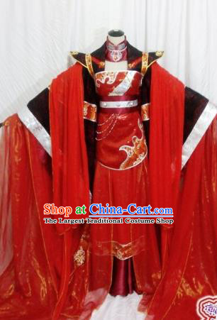 Traditional Chinese Tang Dynasty Princess Wedding Red Hanfu Dress Ancient Empress Embroidered Costume for Women