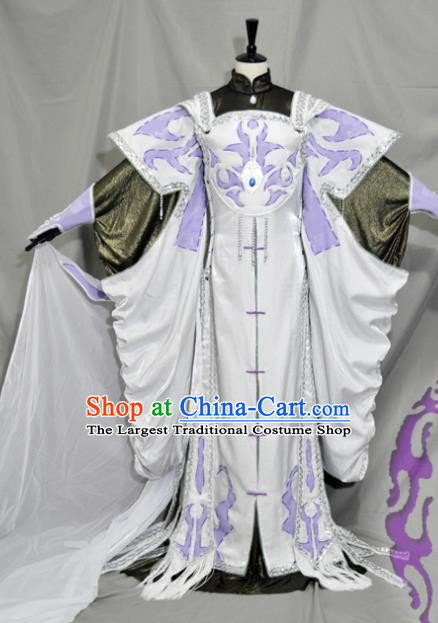 Traditional Chinese Han Dynasty Swordswoman Hanfu Dress Ancient Empress Embroidered Costume for Women