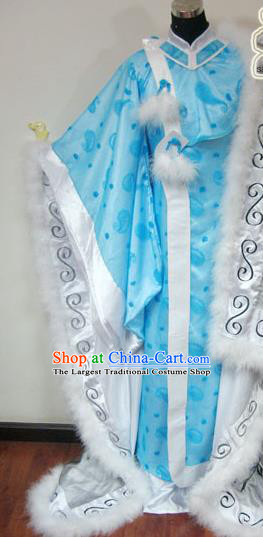 Traditional Chinese Cosplay Taoist Priest Blue Hanfu Clothing Ancient Swordsman Royal Highness Embroidered Costume for Men