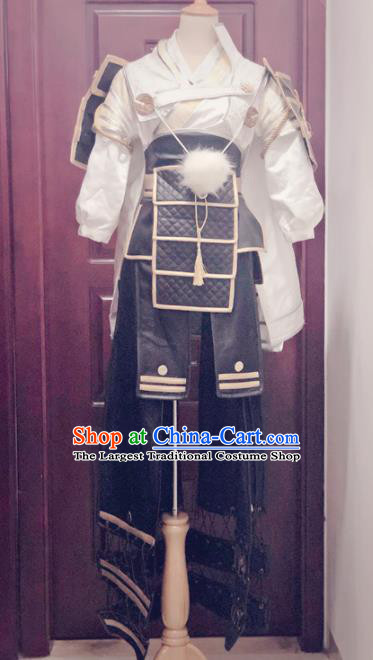 Traditional Chinese Cosplay Knight Hanfu Clothing Ancient Swordsman Embroidered Costume for Men