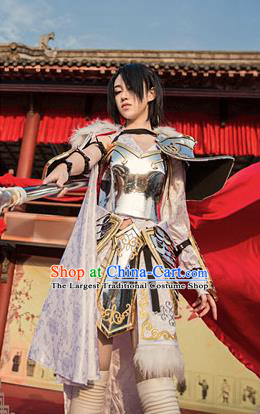 Traditional Chinese Cosplay Female General Armour Ancient Swordswoman Embroidered Costume for Women
