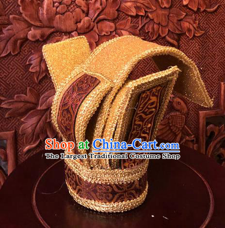 Traditional Chinese Han Dynasty Minister Hairdo Crown Hair Accessories Ancient Nobility Childe Hat for Men
