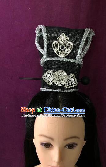 Traditional Chinese Tang Dynasty Minister Hairdo Crown Hair Accessories Ancient Nobility Childe Hat for Men