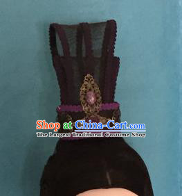 Traditional Chinese Qin Dynasty Swordsman Hairdo Crown Hair Accessories Ancient Nobility Childe Hat for Men
