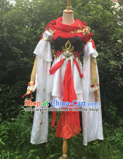 Traditional Chinese Cosplay Swordswoman Hanfu Dress Ancient Princess Embroidered Costume for Women