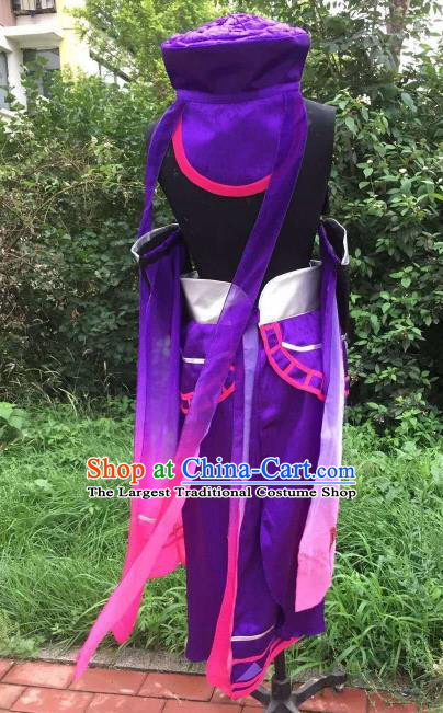 Traditional Chinese Cosplay Young Hero Hanfu Clothing Ancient Swordsman Embroidered Costume for Men