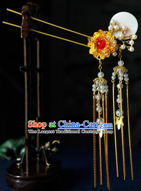 Traditional Chinese Wedding Hairpins Tassel Step Shake Handmade Ancient Bride Hair Accessories for Women