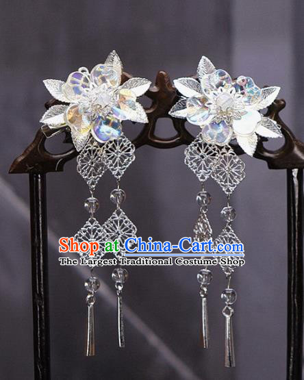 Traditional Chinese Wedding Tassel Hair Claws Hairpins Handmade Ancient Bride Hair Accessories for Women