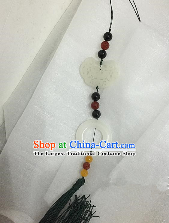 Chinese Handmade Hanfu Waist Accessories Ancient Princess Tassel Jade Pendant  for Women