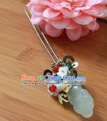 Chinese Handmade Hanfu Jade Pearls Hairpins Traditional Ancient Princess Hair Accessories for Women