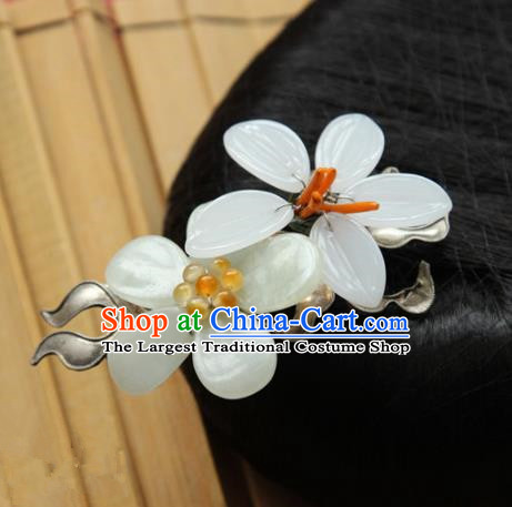 Chinese Handmade Hanfu Flowers Hair Claw Hairpins Traditional Ancient Princess Hair Accessories for Women