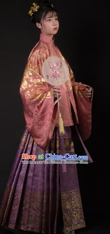 Chinese Ancient Ming Dynasty Court Lady Hanfu Dress Traditional Imperial Princess Embroidered Historical Costume for Women