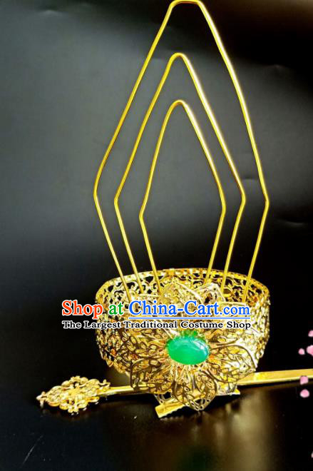 Chinese Handmade Hanfu Hair Accessories Ancient Prince Swordsman Hairdo Crown Hairpins for Men