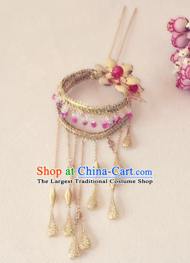 Traditional Chinese Handmade Tassel Step Shake Hanfu Hairpins Ancient Imperial Consort Hair Accessories for Women