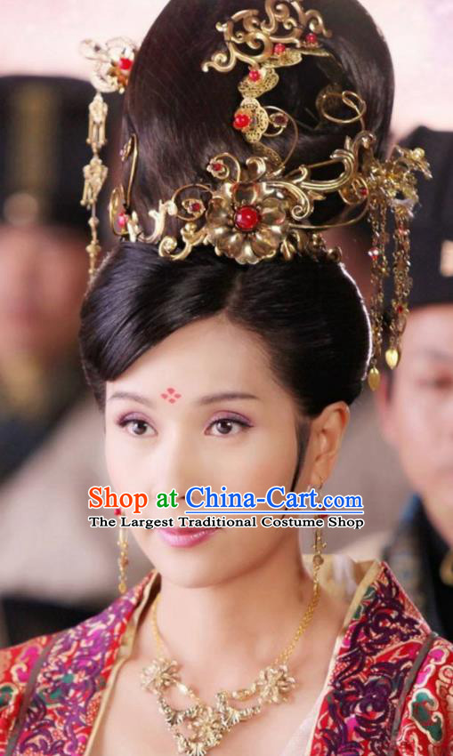 Traditional Chinese Handmade Hanfu Hairpins Ancient Tang Dynasty Imperial Consort Hair Accessories for Women
