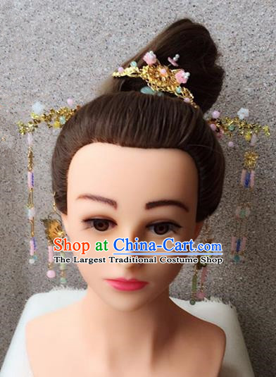 Traditional Chinese Handmade Wedding Hanfu Hairpins Ancient Tang Dynasty Imperial Consort Hair Accessories for Women
