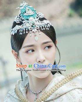 Handmade Chinese Hairdo Crown Traditional Hanfu Hairpins Ancient Tang Dynasty Princess Hair Accessories for Women