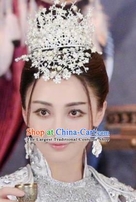 Handmade Chinese Royal Crown Traditional Hanfu Hairpins Ancient Tang Dynasty Princess Hair Accessories for Women