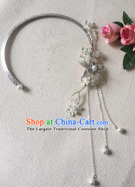 Chinese Handmade Hanfu Tassel Necklace Traditional Ancient Princess Necklet Jewelry Accessories for Women